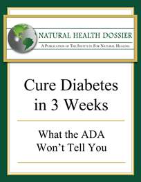 Cure Diabetes in 3 Weeks