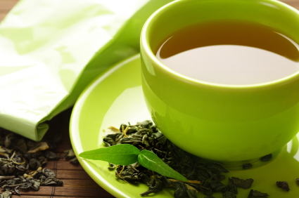 Sip pure, organic green tea to fight cancer.