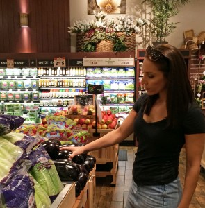 Angela's picking up some fresh vegetables to prepare for the #SugarFree30 challenge. What are you stocking up on to make sure you have lots of healthy options in your kitchen?
