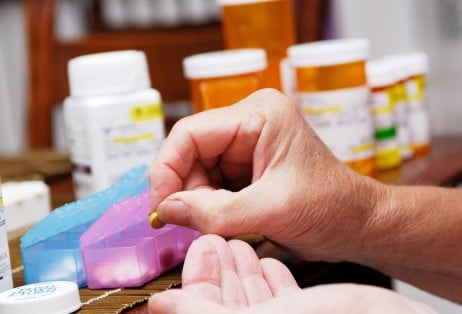 A new British study finds that seniors who start using a pill organizer risk serious health problems.
