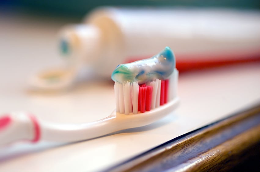 The FDA has banned the antibacterial chemical triclosan from soap. But it still allows it as an ingredient in toothpaste.