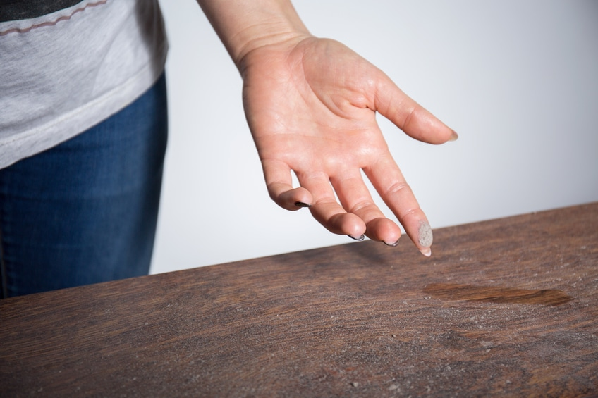A study at George Washington University shows that regular household dust contains up to 45 different toxic chemicals.