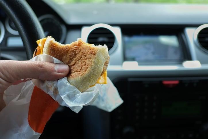 fast food wrapper