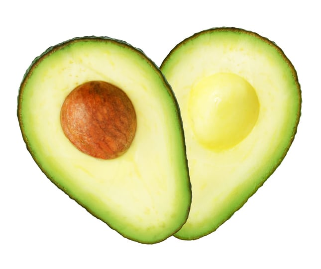 Heart shaped avocado