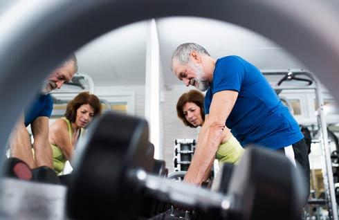 Seniors Lifting Weights