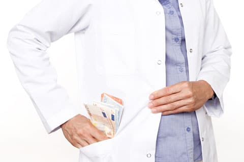 Doctor with cash