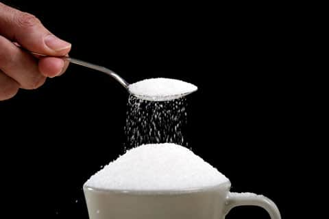 excess amount of sugar