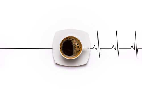 Coffee heart beat