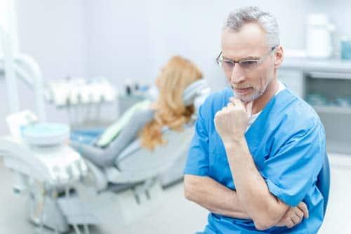 Pensive Dentist