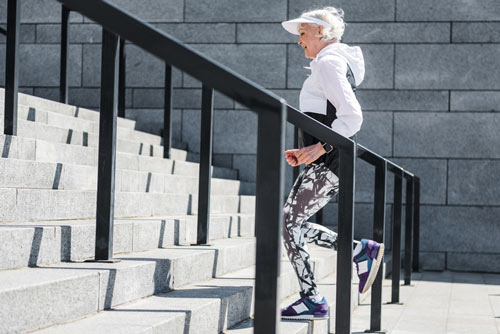 Seniors Climb Stairs