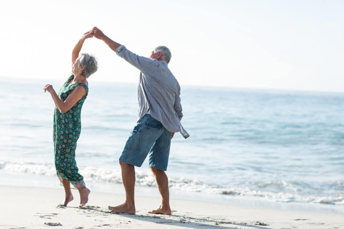 Picture of seniors dancing.