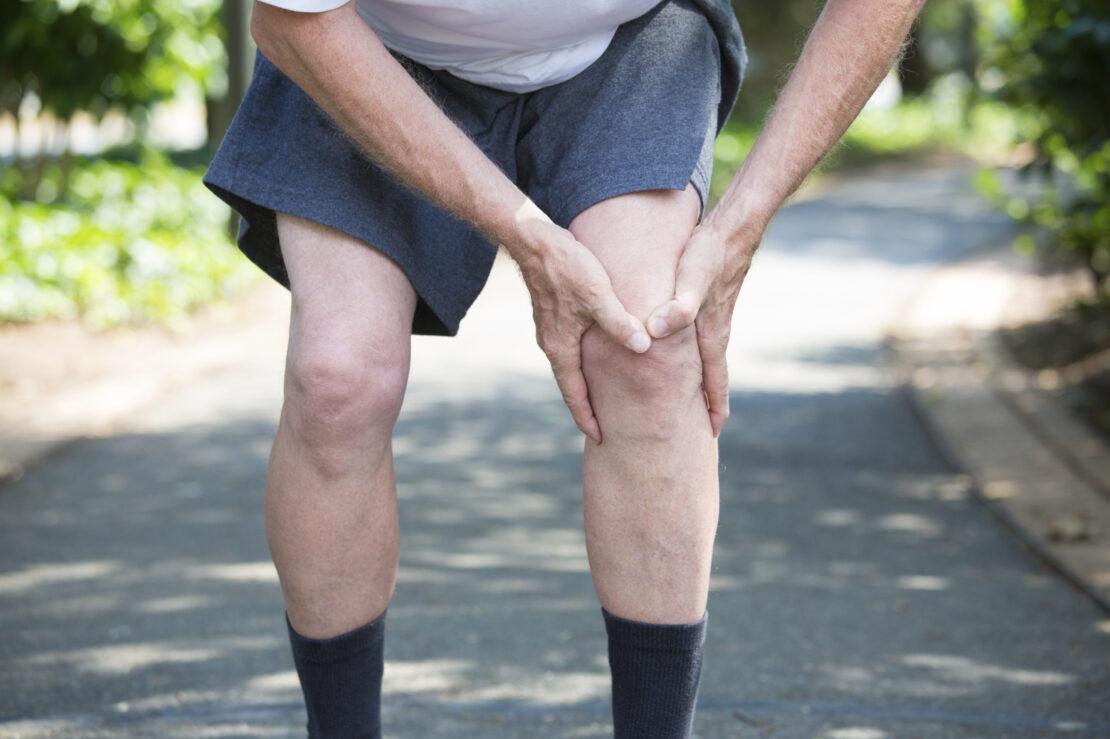 Photo of aching knees.