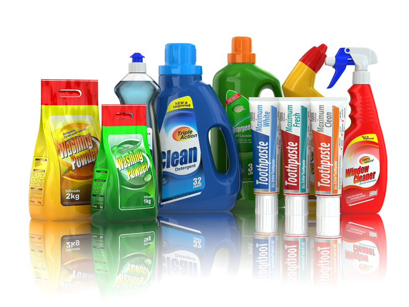 Photo of chemical cleaners.