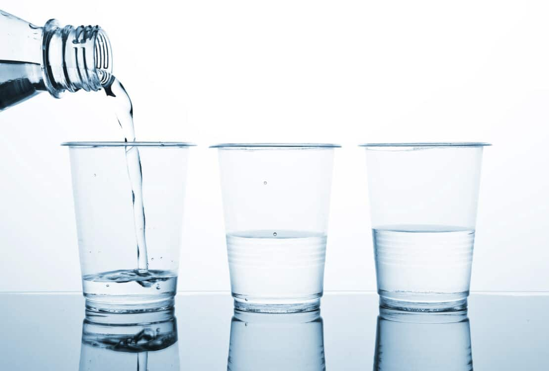 Photo of cups of water.