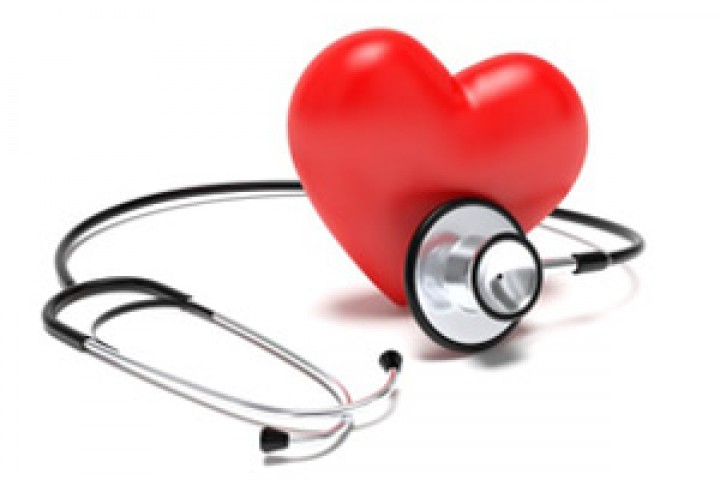 Photo of heart and stethoscope.