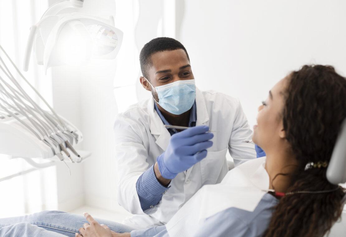 Photo of dentist.