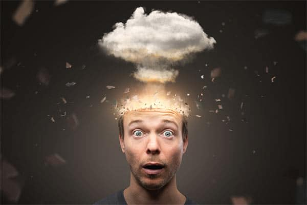 Photo of art of man with an exploding mind.